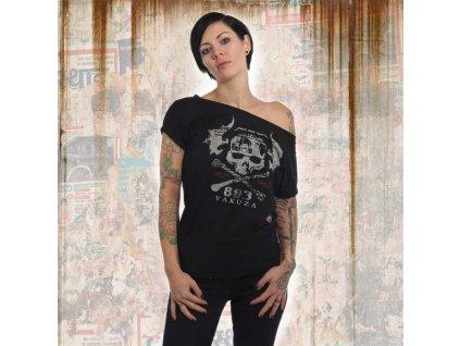 Yakuza SKULL WIDE dámske tričko GSB 13136 black