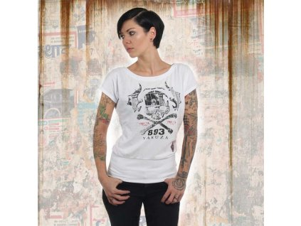 Yakuza SKULL WIDE dámske tričko GSB 13136 white