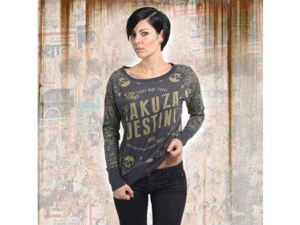 Yakuza TIJUANA dámske tričko s dlhým rukávom GLSB 13142 ebony