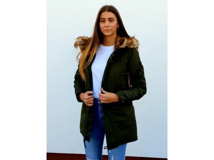 Alpha Industries Explorer Wmn dámska zimná bunda dark green
