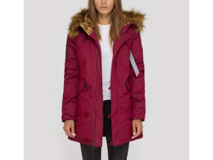 Alpha Industries Explorer Wmn dámska zimná bunda burgundy