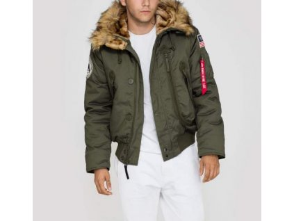 Alpha Industries zimná bunda Polar Jacket SV dark green