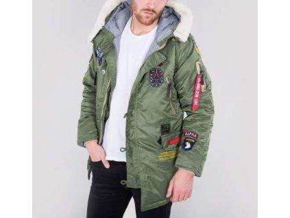 Alpha Industries N3B Patch zimná bunda sage green