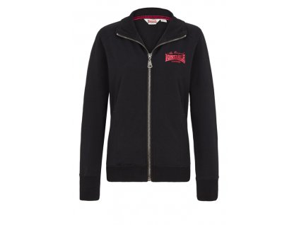 Lonsdale FAIRLIGHT Ladies Stretch Zipsweat Jacket Black dámska mikina