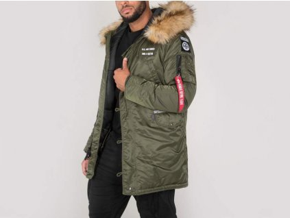 Alpha Industries N3B Airborne pánska zimná bunda dark green