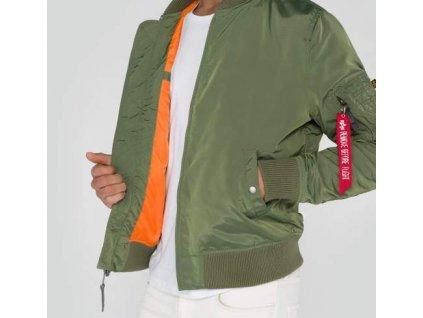 Alpha Industries MA-1 TT Jacket Sage Green bunda pánska