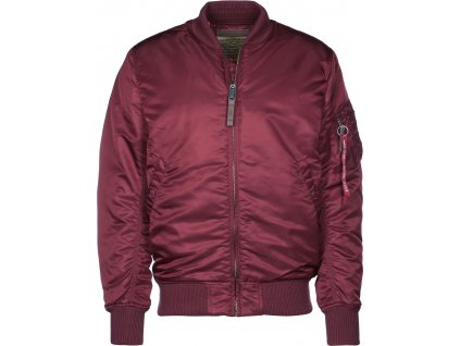 Alpha Industries MA-1 VF 59 LONG burgundy bunda pánska