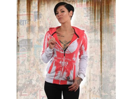 Yakuza GRADIENT V02 Flex dámska mikina na zips GHZB 13115 white