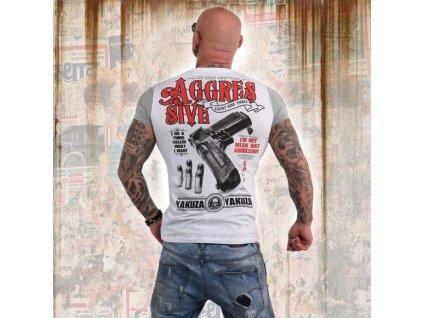 Yakuza AGGRESSIVE TWO FACE tričko pánske TSB 13040 white