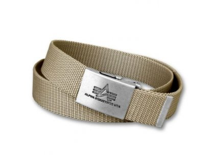 Alpha Industries Heavy Duty Belt 4 cm Khaki opasok