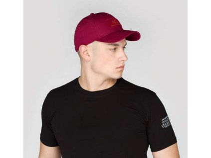 Alpha Industries VLC Cap šiltovka burgundy