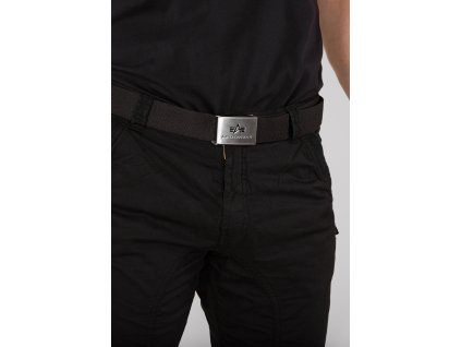 Alpha Industries Big A Belt Black opasok tenší