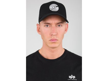 Alpha Industries NASA Cap šiltovka black c