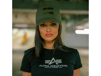 Alpha Industries Air Crew Cap šiltovka dark green