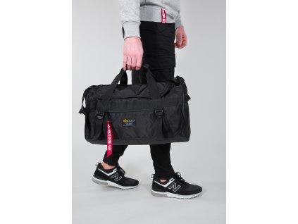 Alpha Industries Crew Duffle Bag Black športová taška