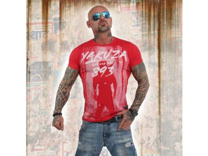Yakuza LOCK UP tričko pánske TSB 13026 ribbon red