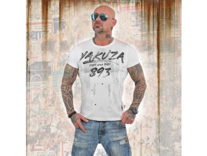 Yakuza LOCK UP tričko pánske TSB 13026 white