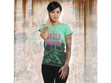 Yakuza WARRIORV NECK dámske tričko GSB 13124 jade cream