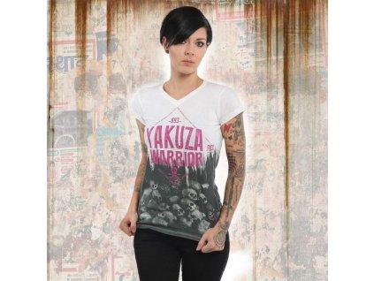 Yakuza WARRIORV NECK dámske tričko GSB 13124 white