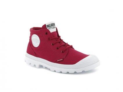 Palladium módne topánky BLANC LITE LOW CUFF RED SALSA