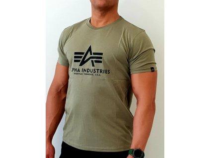 Alpha Industries Basic T-Shirt Olive tričko pánske