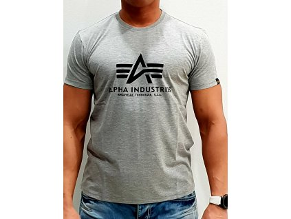Alpha Industries Basic T-Shirt Grey tričko pánske