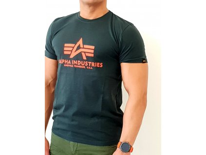 Alpha Industries Basic T-Shirt Dark Petrol tričko pánske