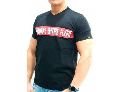 Alpha Industries RBF T black tričko pánske
