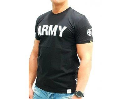 Alpha Industries ARMY T Black tričko pánske