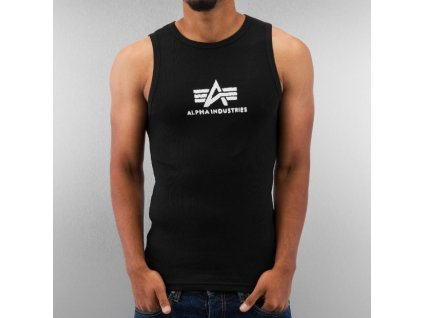Alpha Industries Logo Tank Black/White tielko pánske