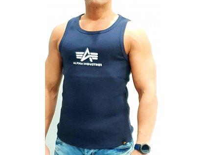 Alpha Industries Logo Tank tielko pánske rep blue