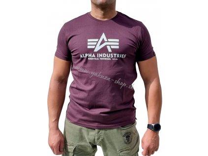 Alpha Industries Basic T Shirt Deep Maroon tričko pánske A