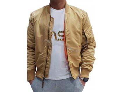 Alpha Industries NASA Reflective T white/gold tričko pánske