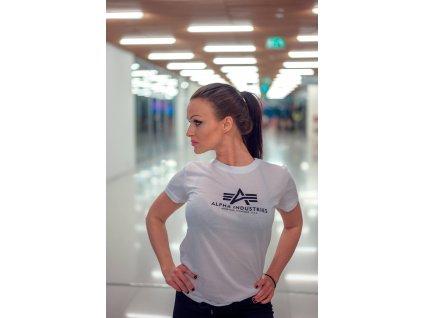 Alpha Industries New Basic T Wmn White dámske tričko