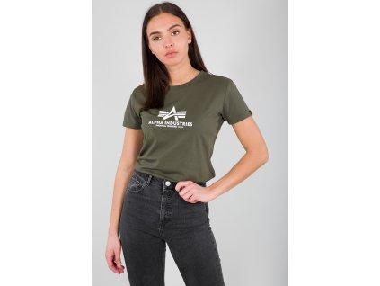 Alpha Industries New Basic T Wmn dark Olive dámske tričko