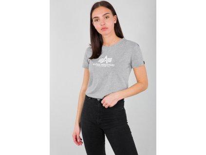 Alpha Industries New Basic T Wmn Grey Heather dámske tričko