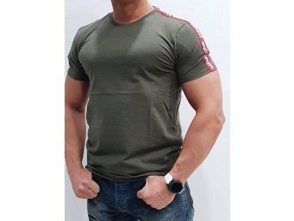 Alpha Industries RBF Tape T Dark Olive tričko pánske