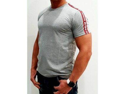 Alpha Industries RBF Tape T Grey Heather tričko pánske