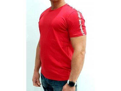 Alpha Industries RBF Tape T Speed Red tričko pánske
