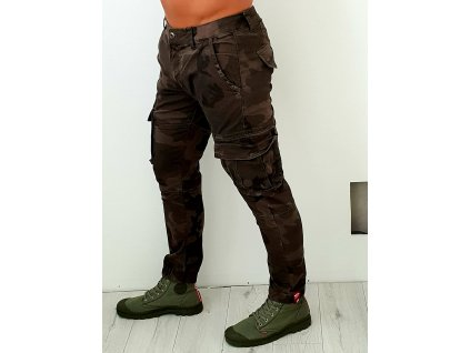 Alpha Industries nohavice Army Pant Olive Camo