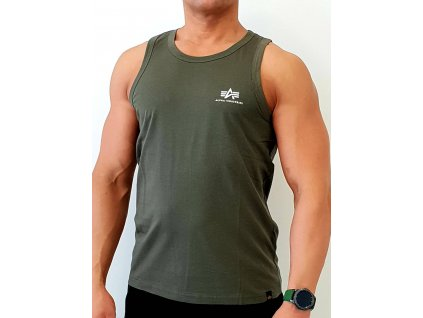 Alpha Industries Small Logo Tank tielko pánske dark olive