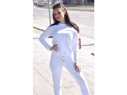 Alpha Industries dámska mikina X-FIT Sweat Wmn white