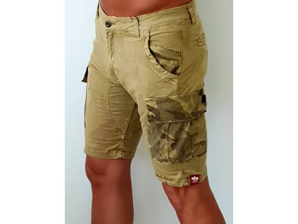 Alpha Industries Camo Pocket Short Sand pánske šortky