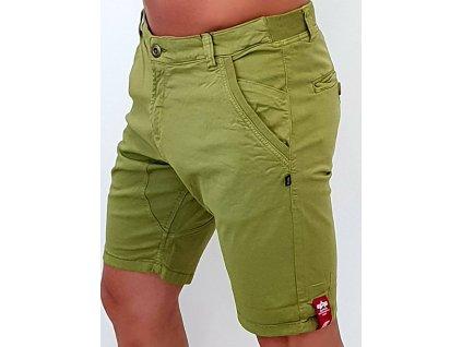 Alpha Industries Kerosene Short pánske šortky khaki green