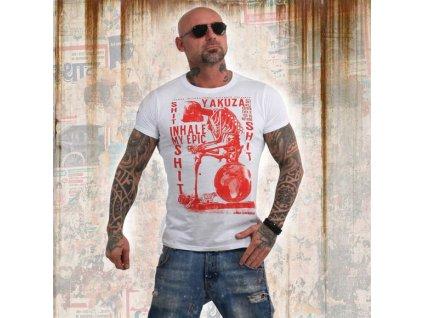 Yakuza INHALE tričko pánske TSB 13029 white