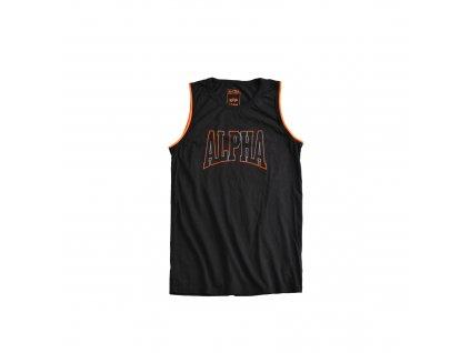 Alpha Industries Alpha Print Tank Black tričko pánske