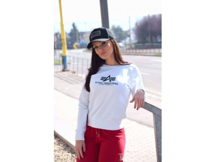 Alpha Industries dámska mikina New Basic Sweat Wmn white