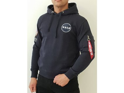 Alpha Industries Apollo 11 Hoody rep blue pánska mikina