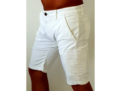 Alpha Industries Deck Short white pánske šortky