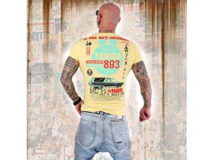 Yakuza MATE LENTAMENTE tričko pánske TSB 13033 pale banana